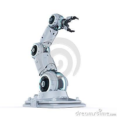 Free White Robotic Arm Stock Photo - 130649260