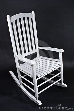 White Rocking Chair Stock Image Image Of Wooden Black