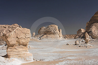 White rocks in Libyan desert