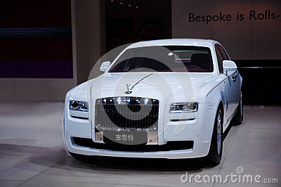 White Rolls-Royce Ghost Editorial Stock Photo