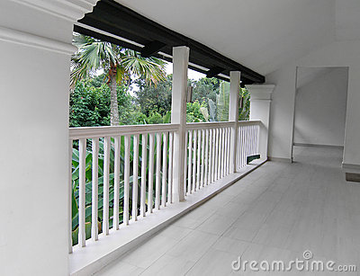 White room & balcony interior resort