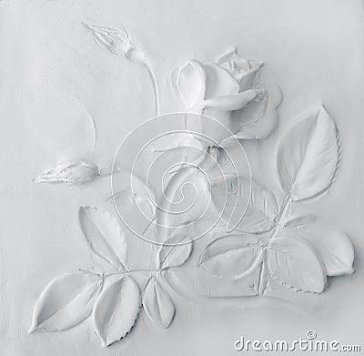 Free White Rose Background Royalty Free Stock Photo - 53831225