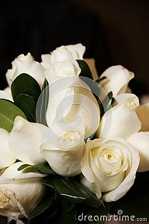 White Roses Bridal Bouquet