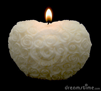 white roses heart candle stock photography image 3879892. Black Bedroom Furniture Sets. Home Design Ideas