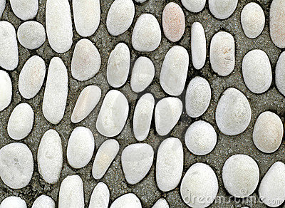 White round pebble stones