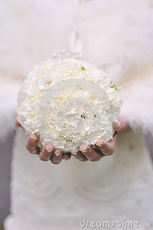 White round wedding bouquet