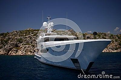 White royal yacht - Mediterranean sea