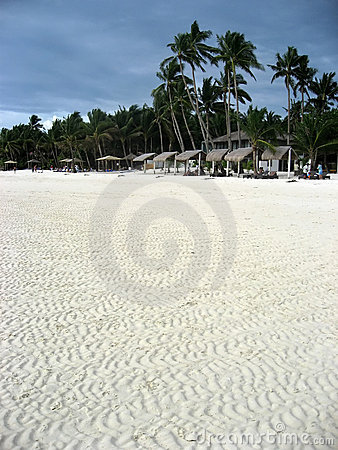 White sand beach boracay island philippines
