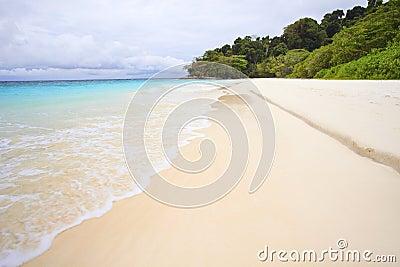 White sand beach of tachai island southern thailand