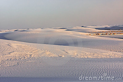 The White Sands Nat. Park.