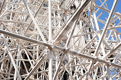 White scaffolding