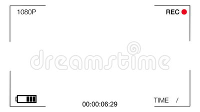 White screen CCTV camera,time goes forward Stock Photo