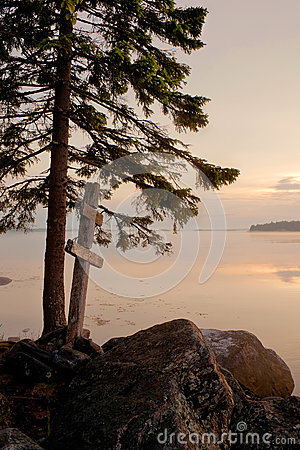 White Sea Shore Stock Photo