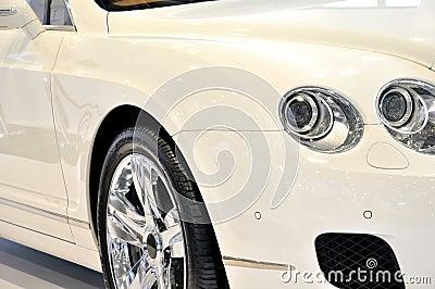White sedan in luxury style