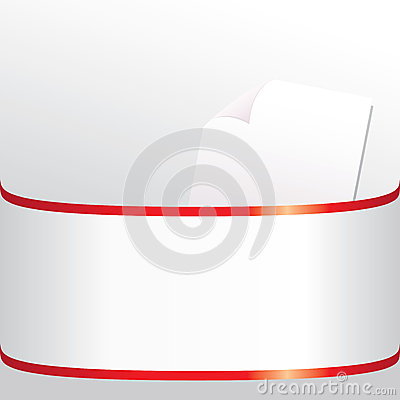 White sheet in a folder