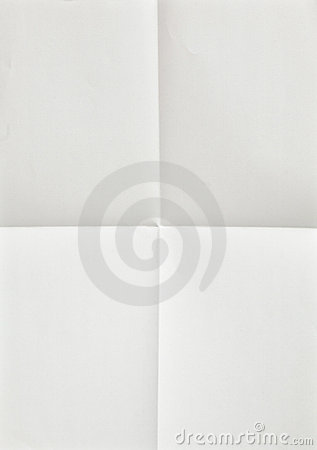 White sheet of paper folded