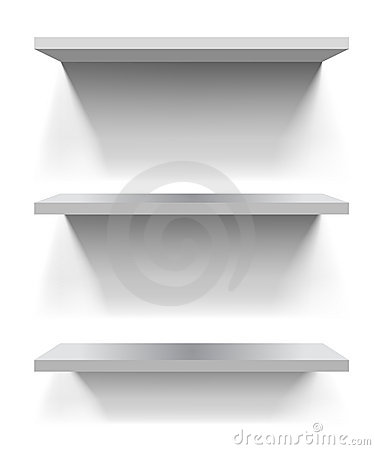 Free White Shelves Royalty Free Stock Images - 18203079