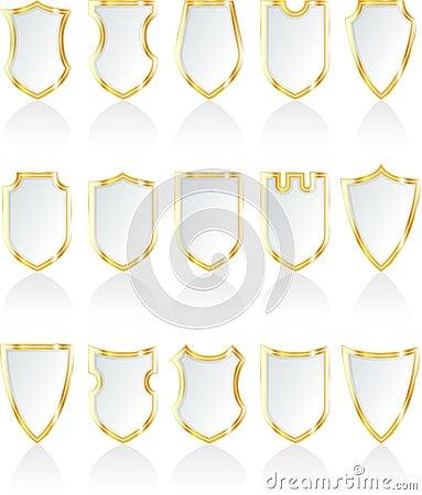 White shields