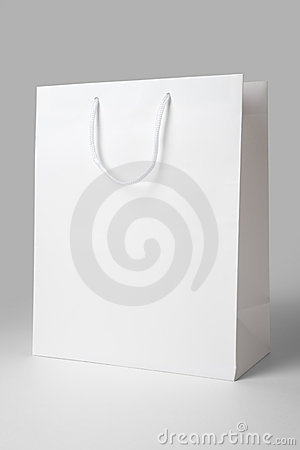 Free White Shopping Bag Stock Image - 10594801