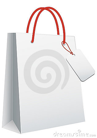 Free White Shopping Bag Stock Image - 17366141