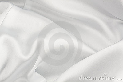 White silk cloth