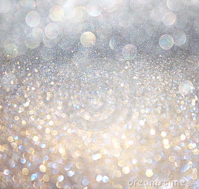 Free White Silver And Gold Abstract Bokeh Lights. Defocused Background Royalty Free Stock Photo - 36169715
