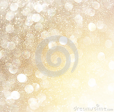 Free White Silver And Gold Abstract Bokeh Lights. Defocused Background Stock Image - 45266711