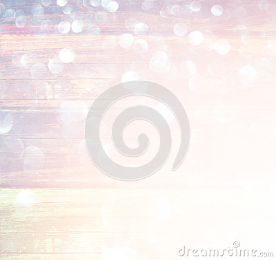Free White Silver And Gold Abstract Bokeh Lights. Defocused Background. Royalty Free Stock Photography - 45450037