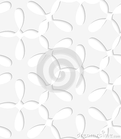 White simple flower seamless pattern
