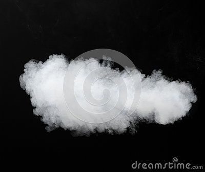 White smoke cloud