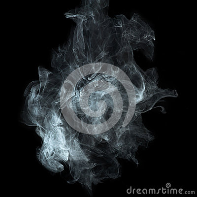 Free White Smoke On Black Background Stock Photo - 35238100