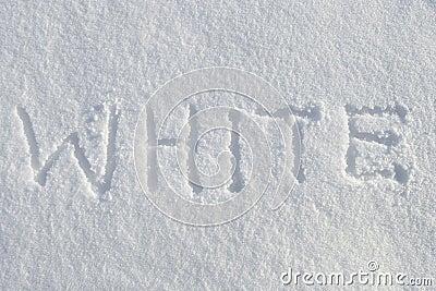 White on snow