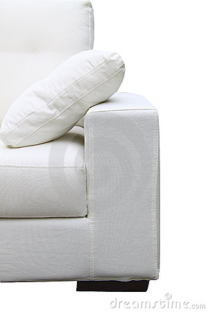 White Sofa Stock Images - Image: 15250684
