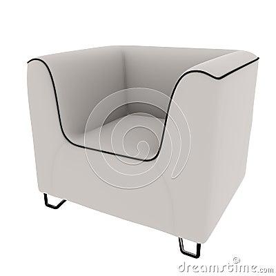 Free White Sofa 3D Rendering Royalty Free Stock Photos - 21172858