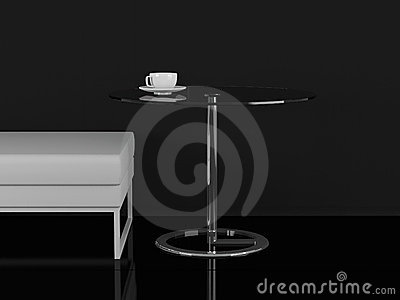 White sofa and coffee table