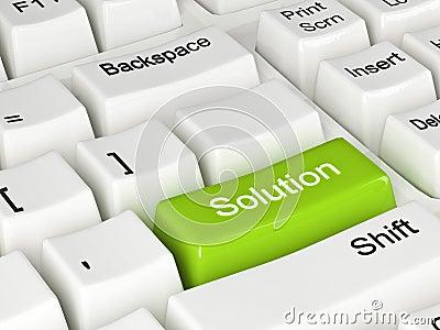 White solution keyboard