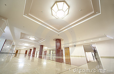 White spacious hall of MSU Editorial Image