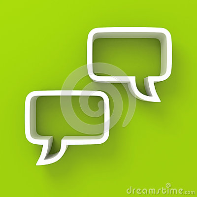Free White Speech Bubbles On Green Background Stock Image - 39010371
