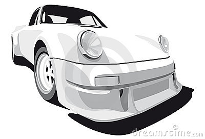 White sport car Editorial Stock Photo