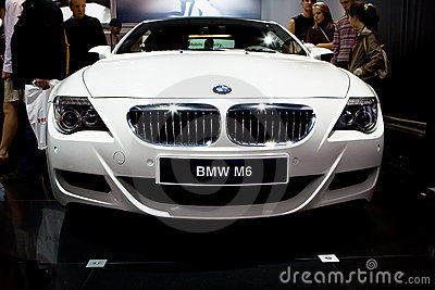 White sport car BMW M6 Editorial Stock Image