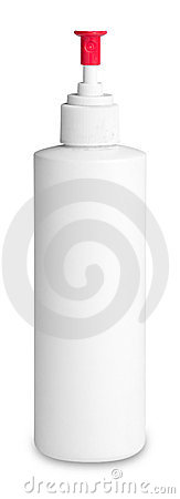 White spray bottle