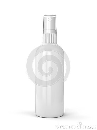 Free White Spray Bottle Stock Photo - 53641890