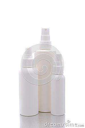 White Spray Pump Bottles
