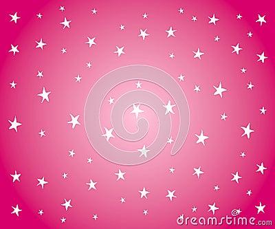 White Stars on Pink Background