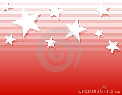 White Stars Stripes Background