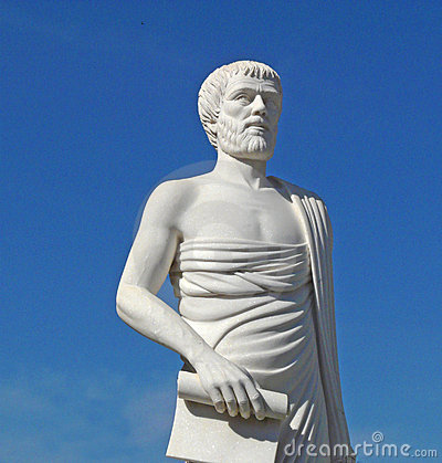 White statue of Aristotle