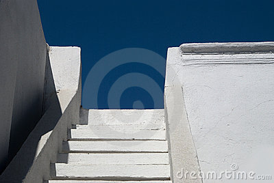 White Steps and Blue Sky