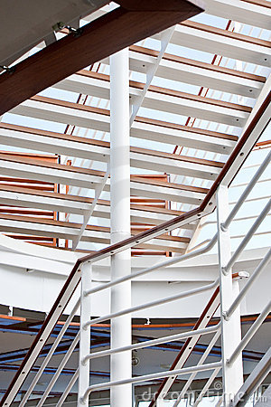 White Steps and Railings on Ship