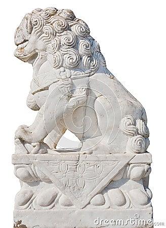 White Stone Lion