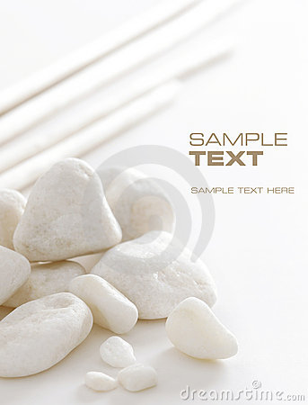 Free White Stones Royalty Free Stock Image - 5439336